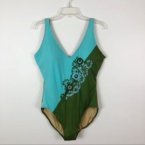 Shape FX One Piece Swimsuit Embroidered  16W